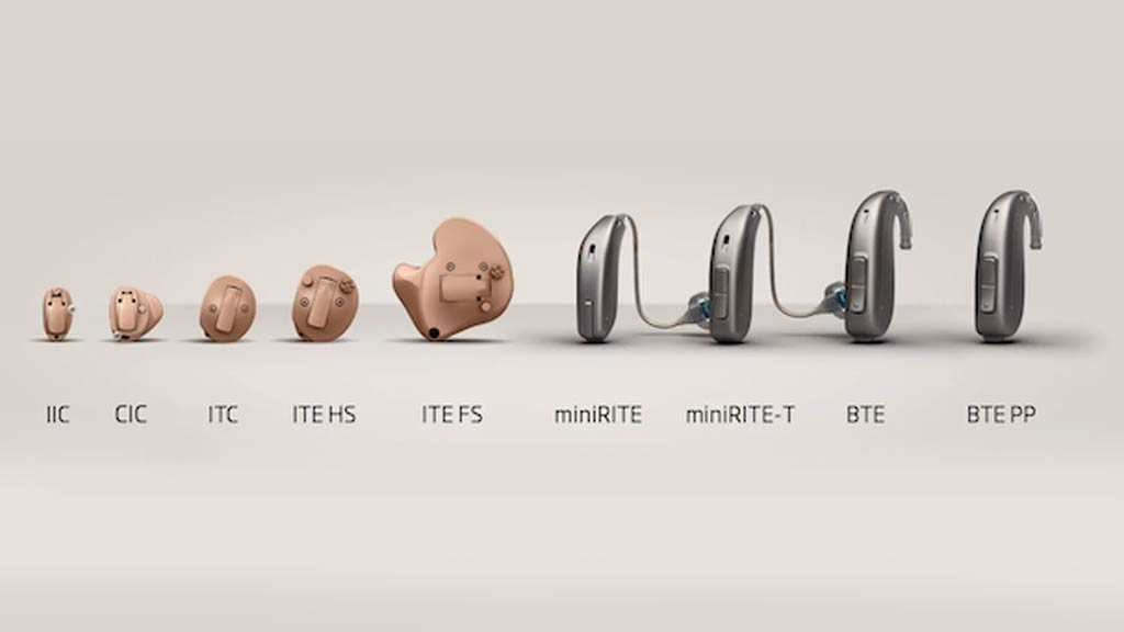 Oticon hearing aid lineup - showing all available hearing aid models