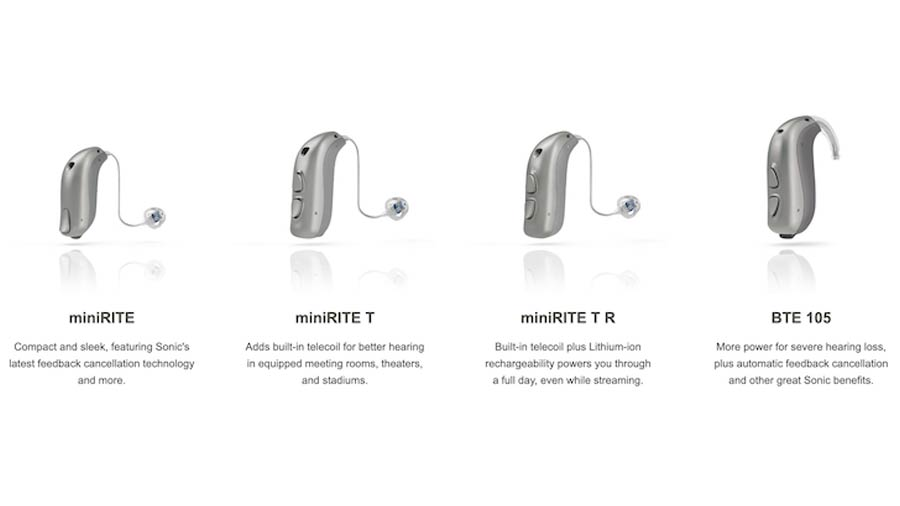 Sonic Innovations Captivate hearing aid models